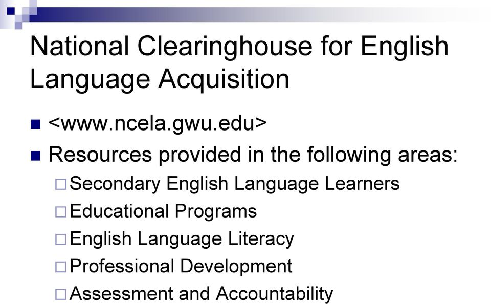 edu> Resources provided in the following areas: Secondary
