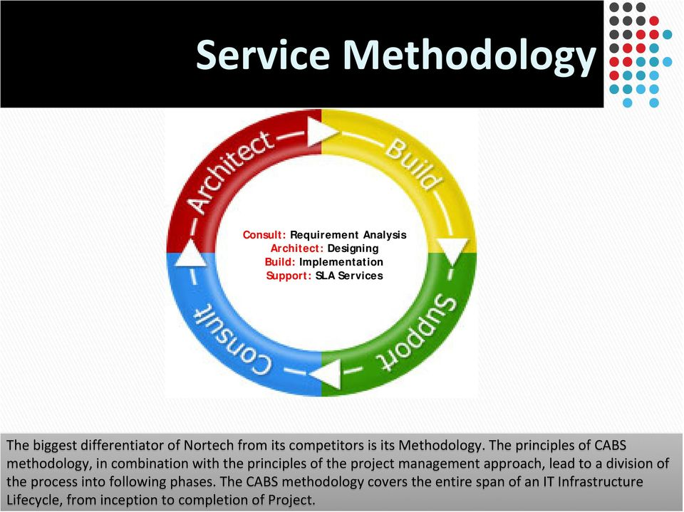 The principles of CABS methodology, in combination with the principles of the project management approach, lead to a