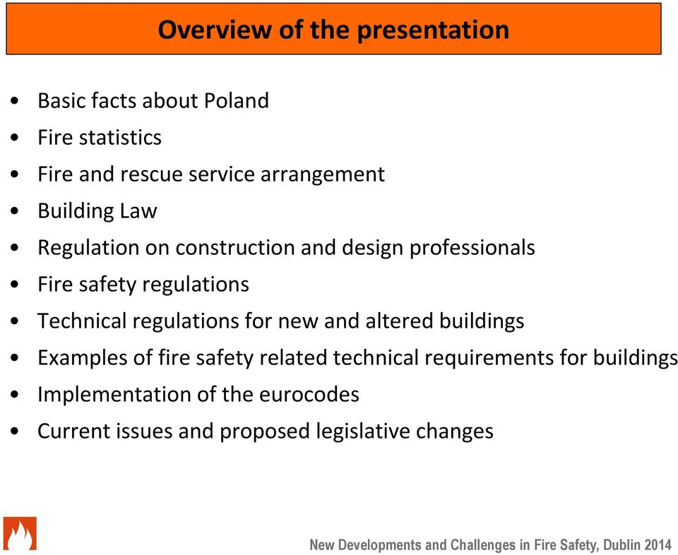 regulations Technical regulations for new and altered buildings Examples of fire safety related