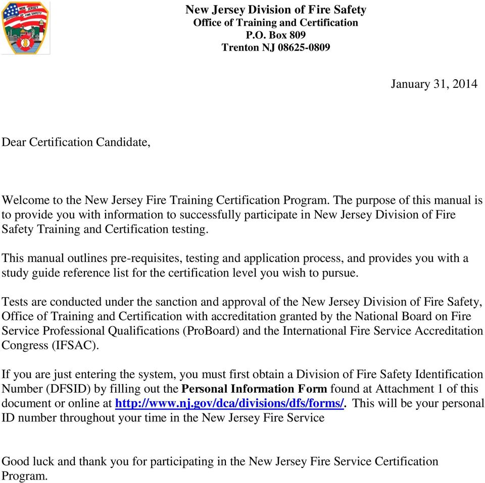 New Jersey Division Of Fire Safety Pdf