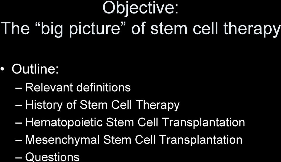 Cell Therapy Hematopoietic Stem Cell