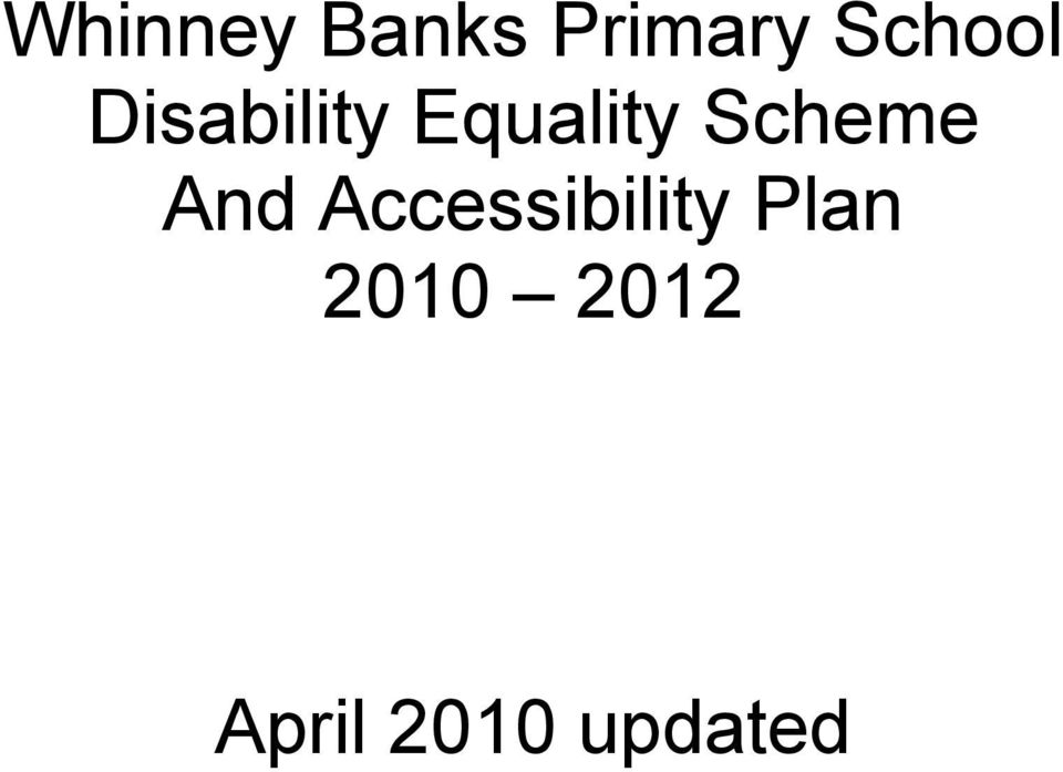 Scheme And Accessibility