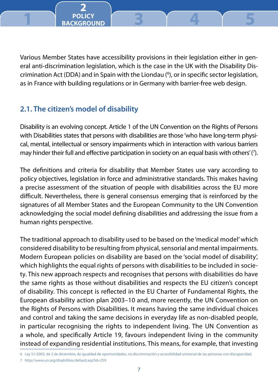 The citizen s model of disability Disability is an evolving concept.