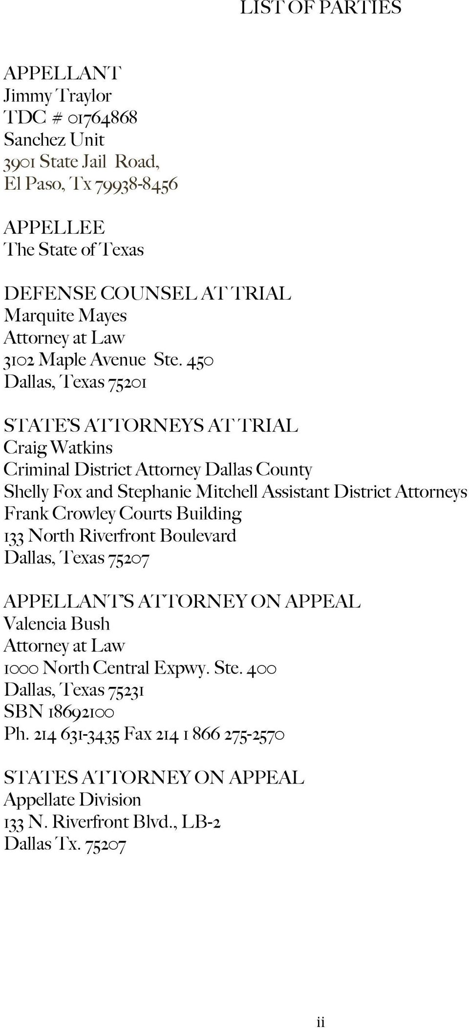 In the Court of Appeals for the Fifth District of Texas at
