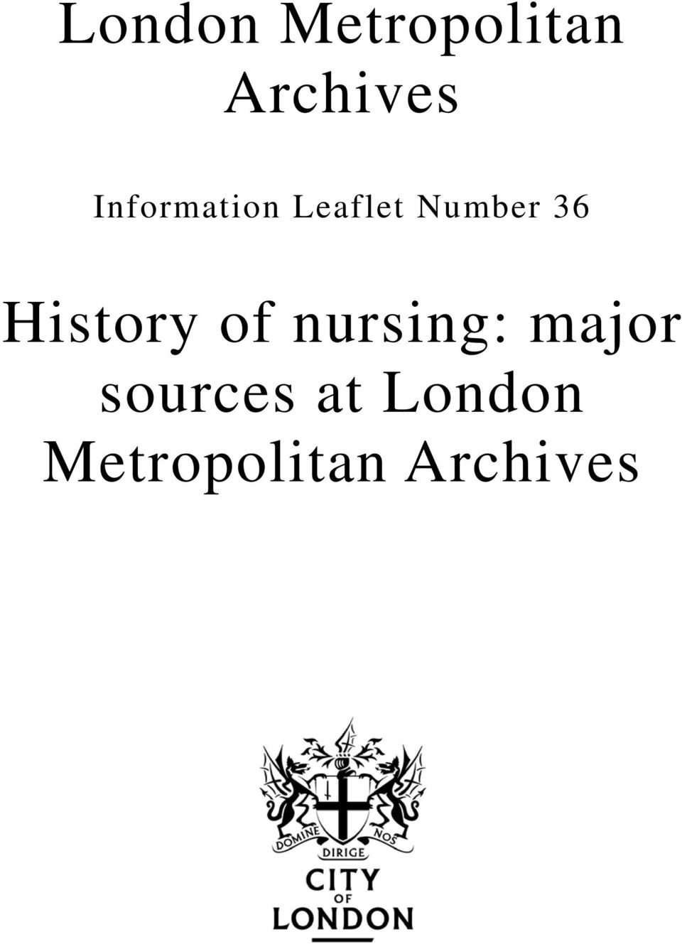 History of nursing: major