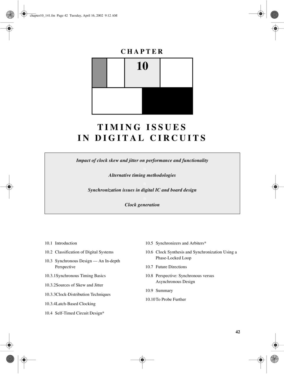 TIMING ISSUES IN DIGITAL CIRCUITS - PDF