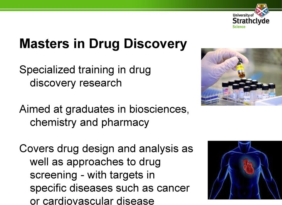 Covers drug design and analysis as well as approaches to drug