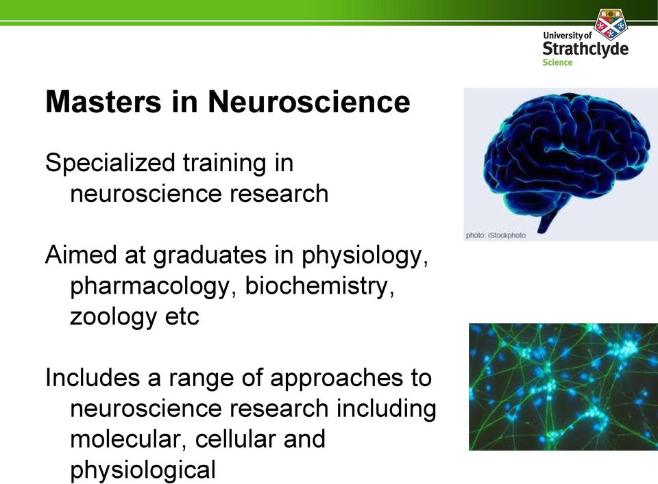 biochemistry, zoology etc Includes a range of approaches to