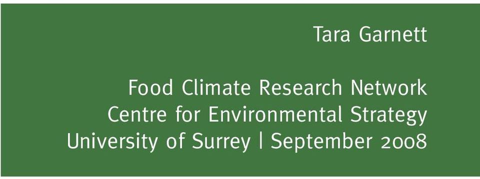 Garnett Food Climate Research Network Centre