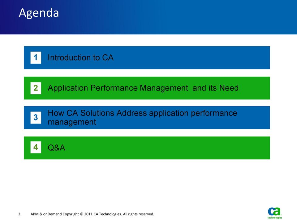 application performance management 4 Q&A 2 APM &