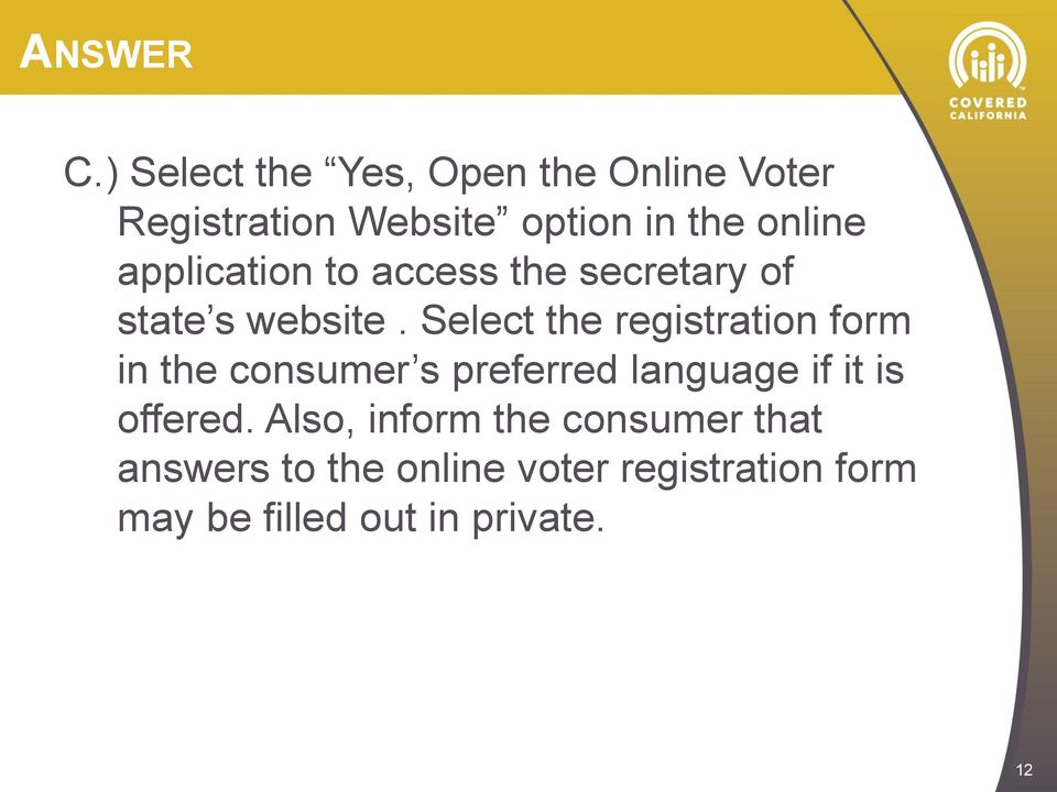 application to access the secretary of state s website.