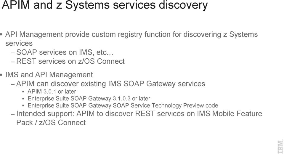 SOAP Gateway services APIM 3.0.