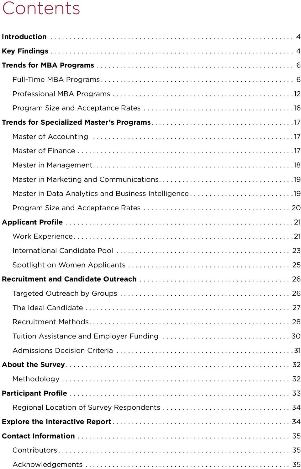 ...18 Master in Marketing and Communications....19 Master in Data Analytics and Business Intelligence...19 Program Size and Acceptance Rates...20 Applicant Profile...21 Work Experience.