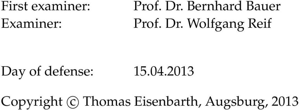 Wolfgang Reif Day of defense: 15.04.
