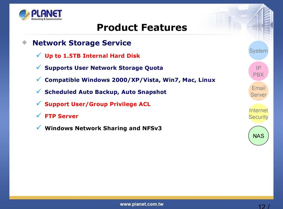 2000/XP/Vista, Win7, Mac, Linux Scheduled Auto Backup, Auto Snapshot Support