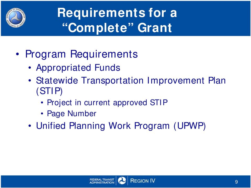 Transportation Improvement Plan (STIP) Project in