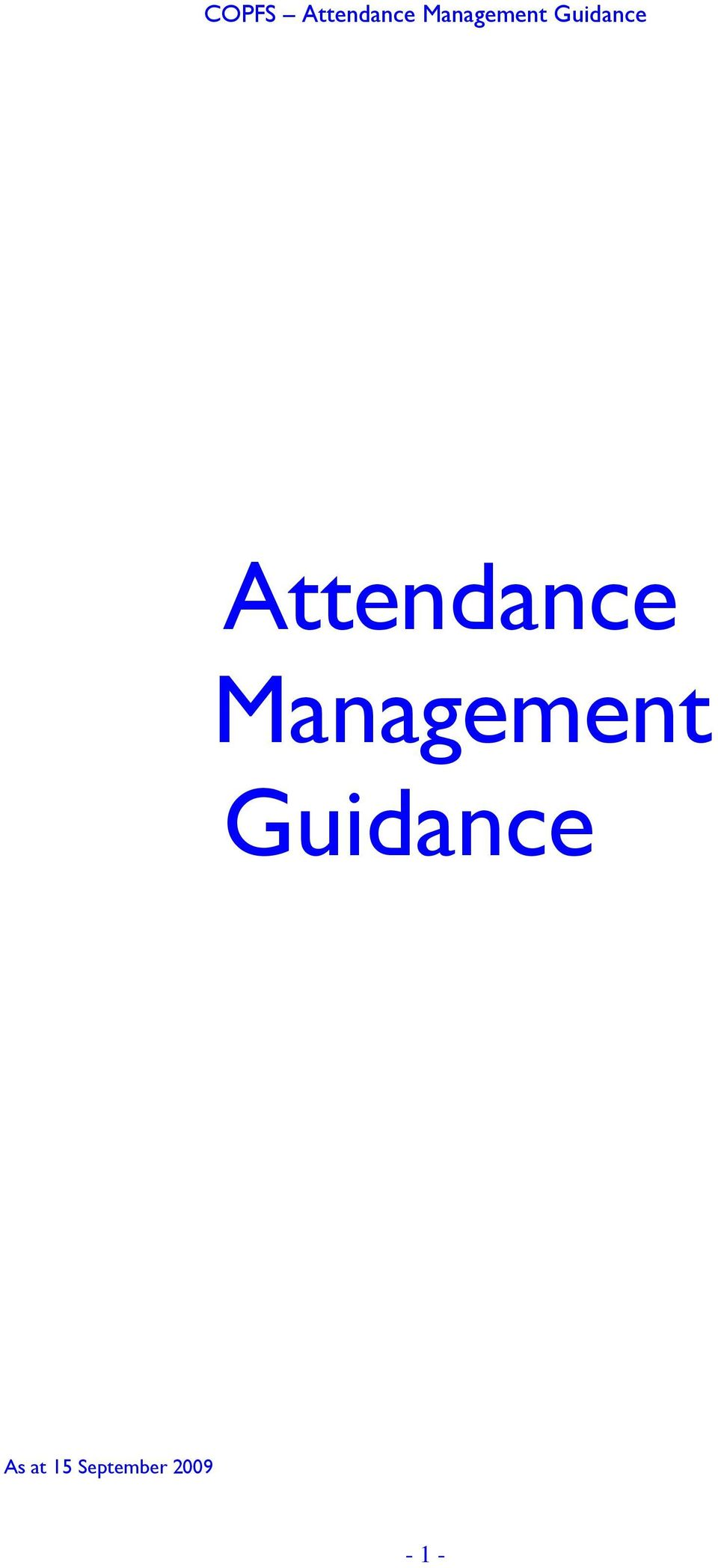 Guidance As at
