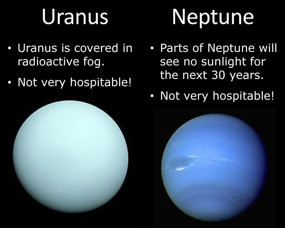 Parts of Neptune will see no sunlight