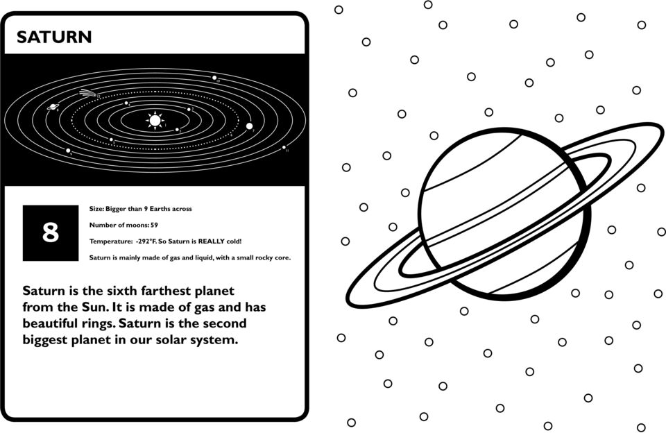 Saturn is mainly made of gas and liquid, with a small rocky core.
