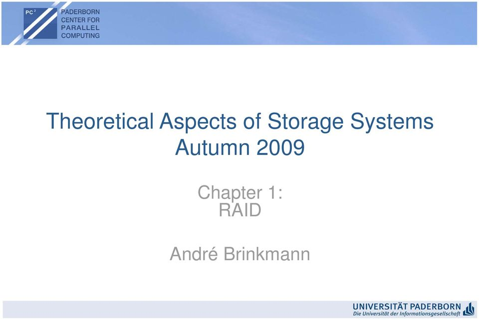 Autumn 2009 Chapter