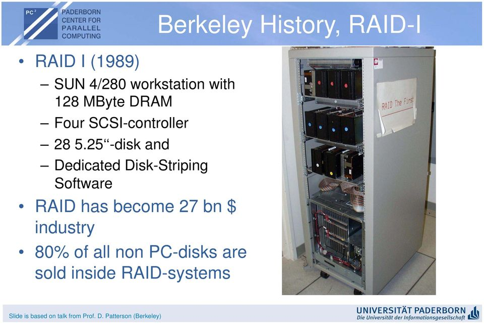 25 -disk and Dedicated Disk-Striping Software RAID has become 27 bn $