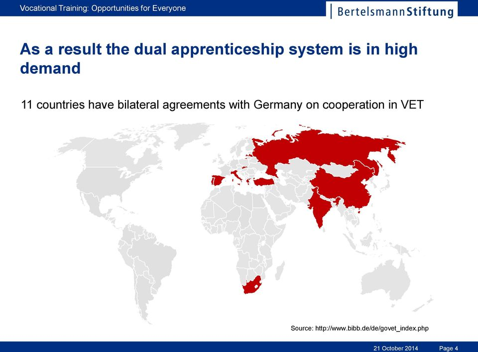 agreements with Germany on cooperation in VET