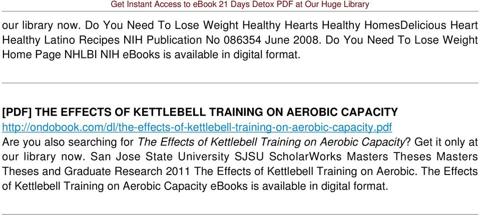 com/dl/the-effects-of-kettlebell-training-on-aerobic-capacity.pdf Are you also searching for The Effects of Kettlebell Training on Aerobic Capacity? Get it only at our library now.