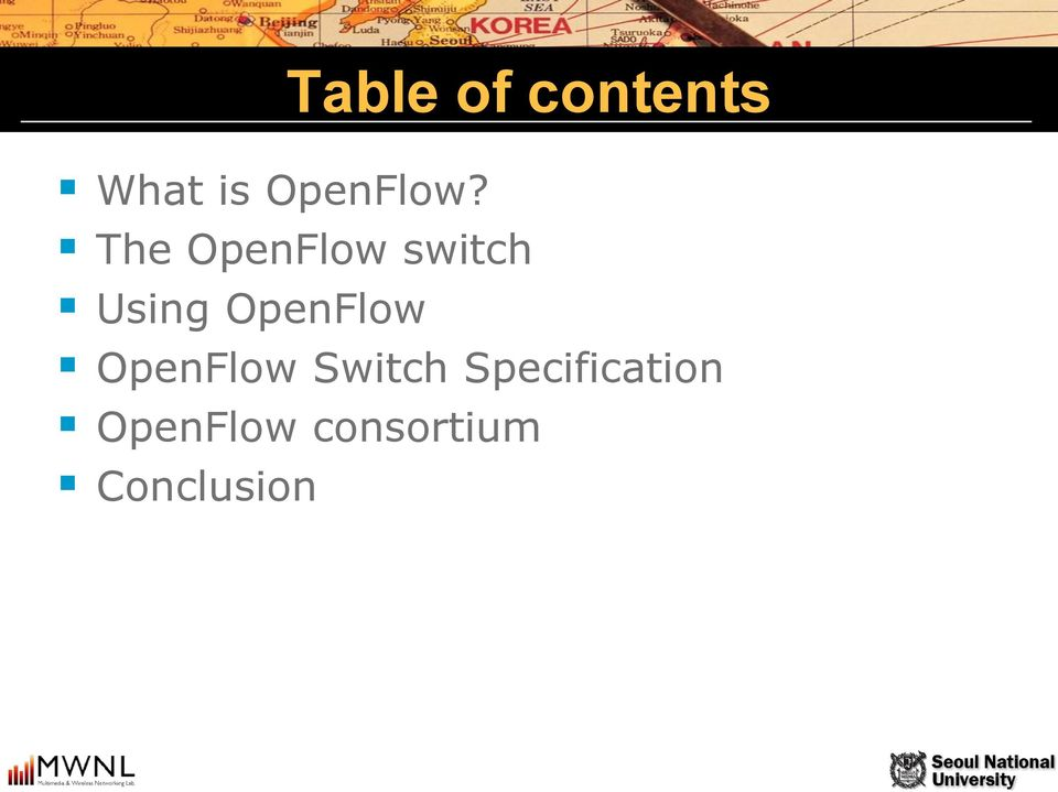 The OpenFlow switch Using