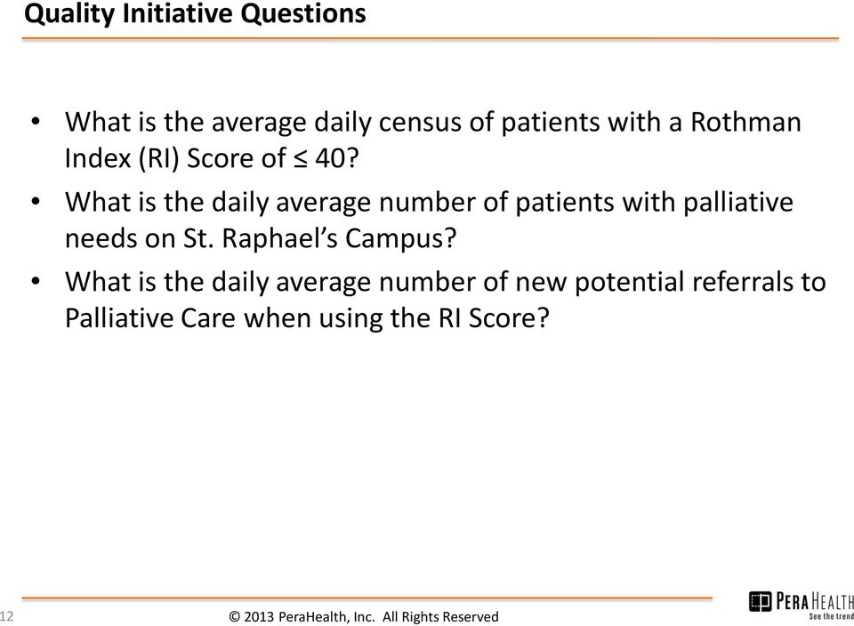 What is the daily average number of patients with palliative needs on St.