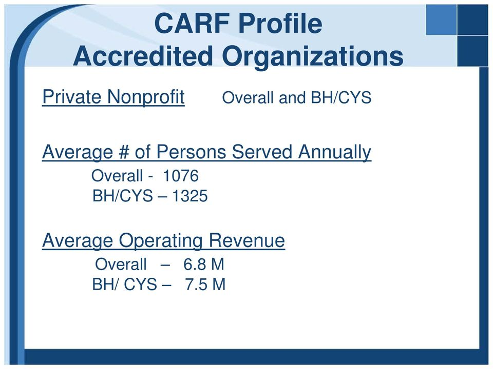 Persons Served Annually Overall - 1076 BH/CYS