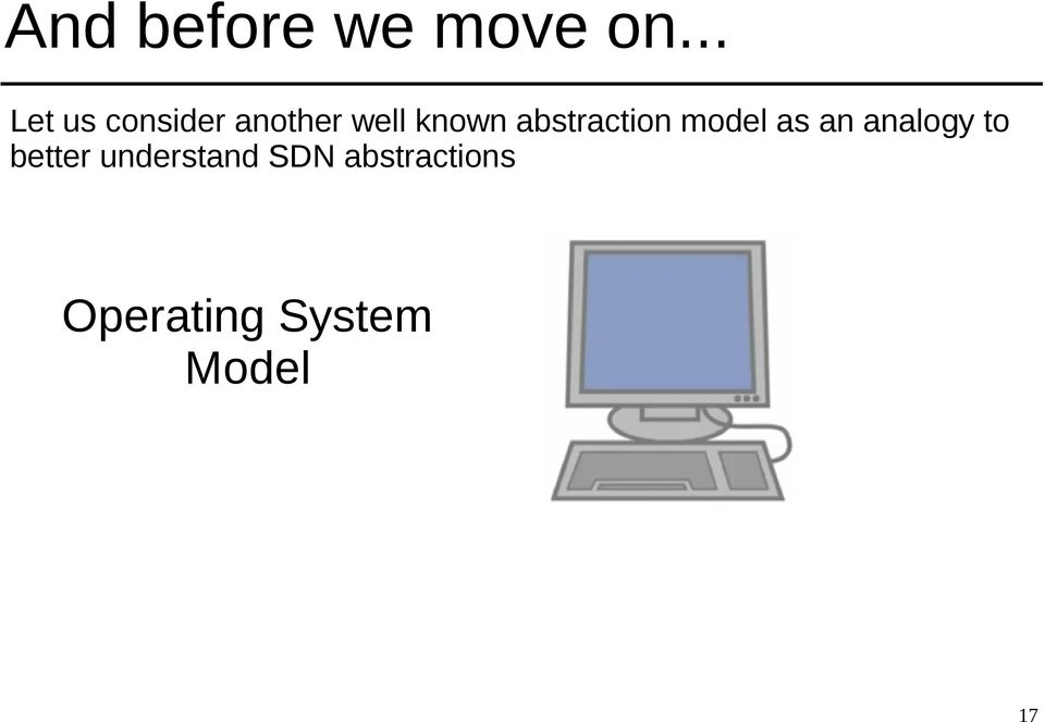 abstraction model as an analogy to