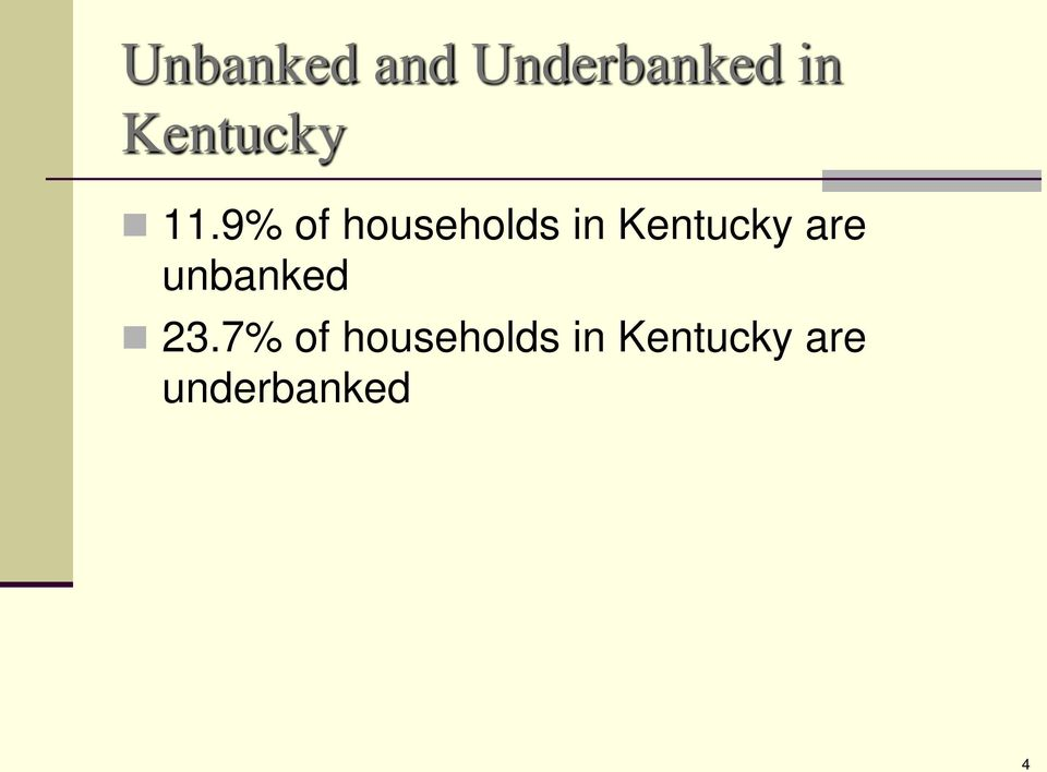 9% of households in Kentucky are