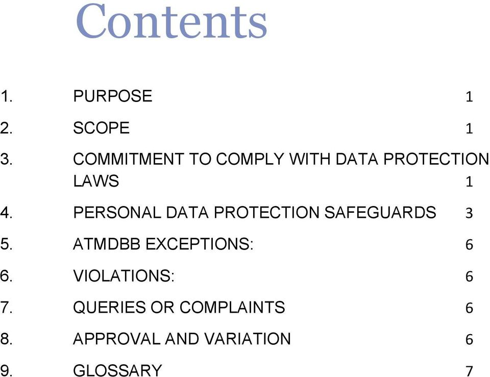 PERSONAL DATA PROTECTION SAFEGUARDS 3 5.