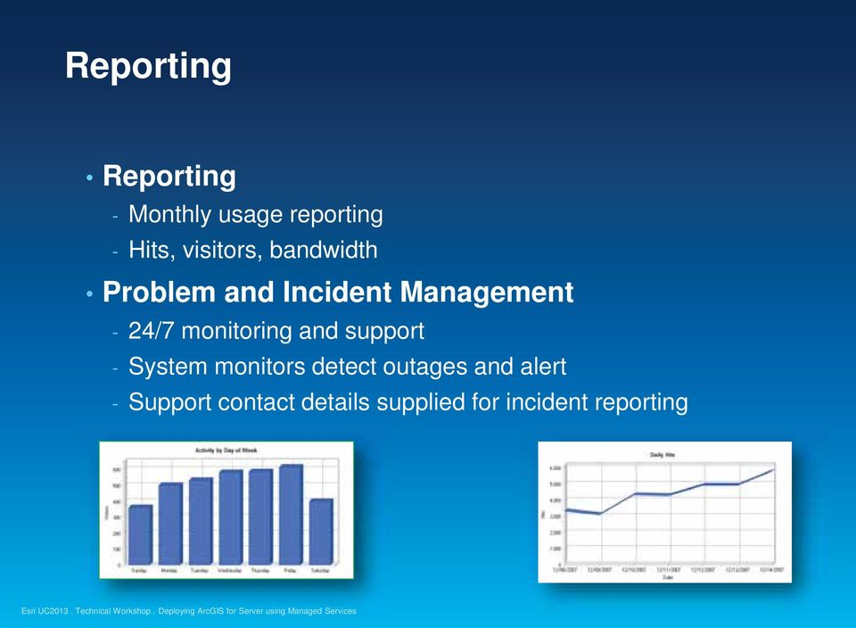 monitoring and support - System monitors detect outages