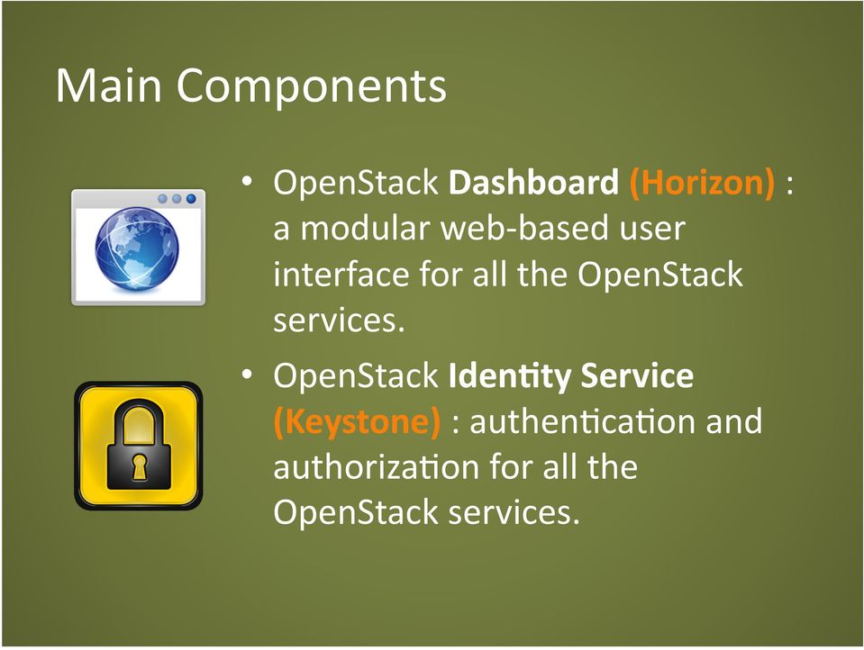 OpenStack services.