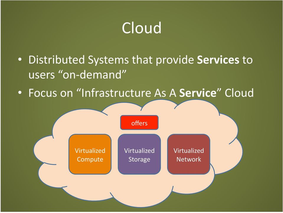 Infrastructure As A Service Cloud offers