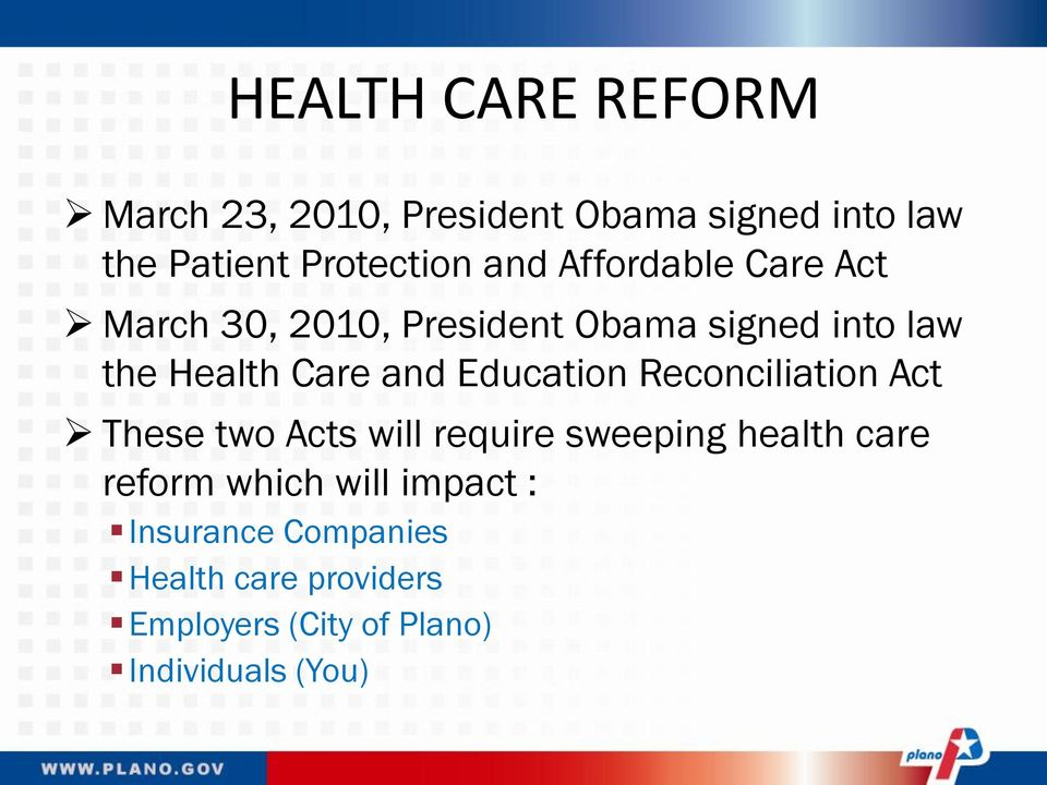 healthcare reform and the impact of
