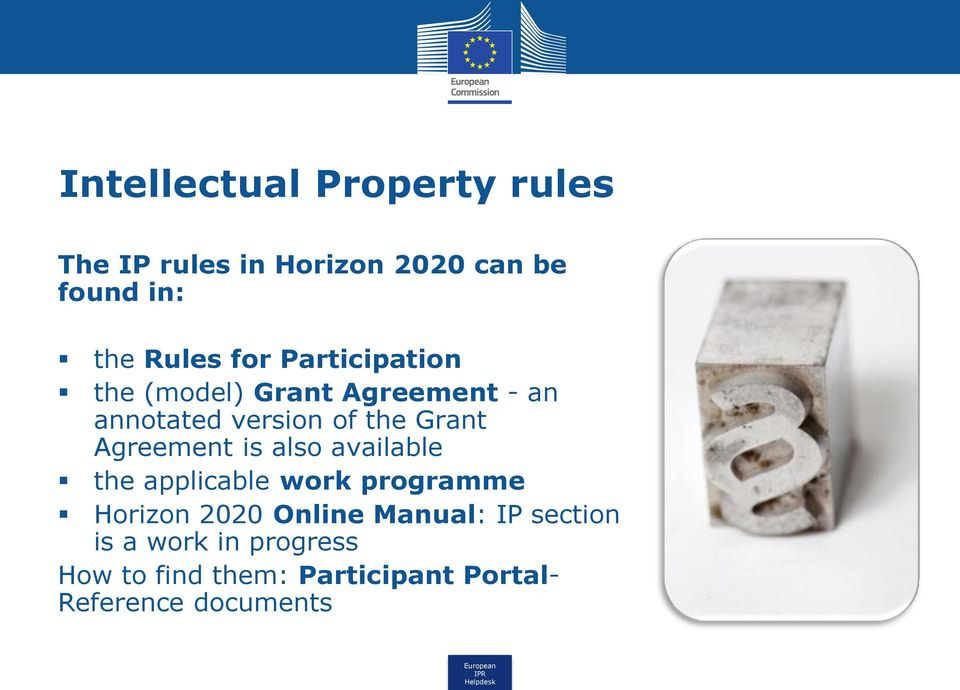 Agreement is also available the applicable work programme Horizon 2020 Online Manual: