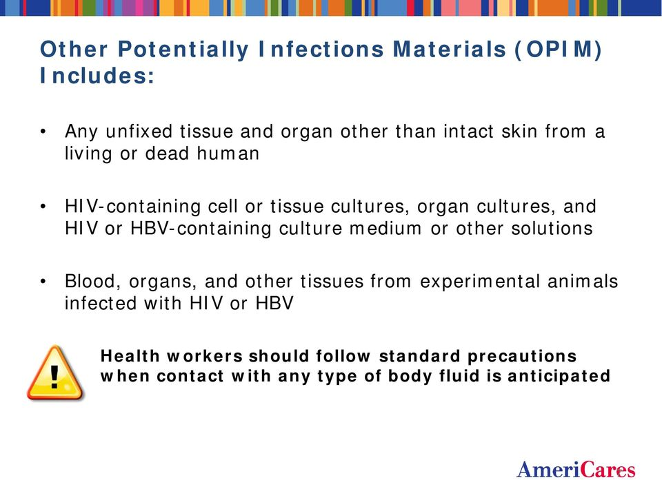 culture medium or other solutions Blood, organs, and other tissues from experimental animals infected with HIV