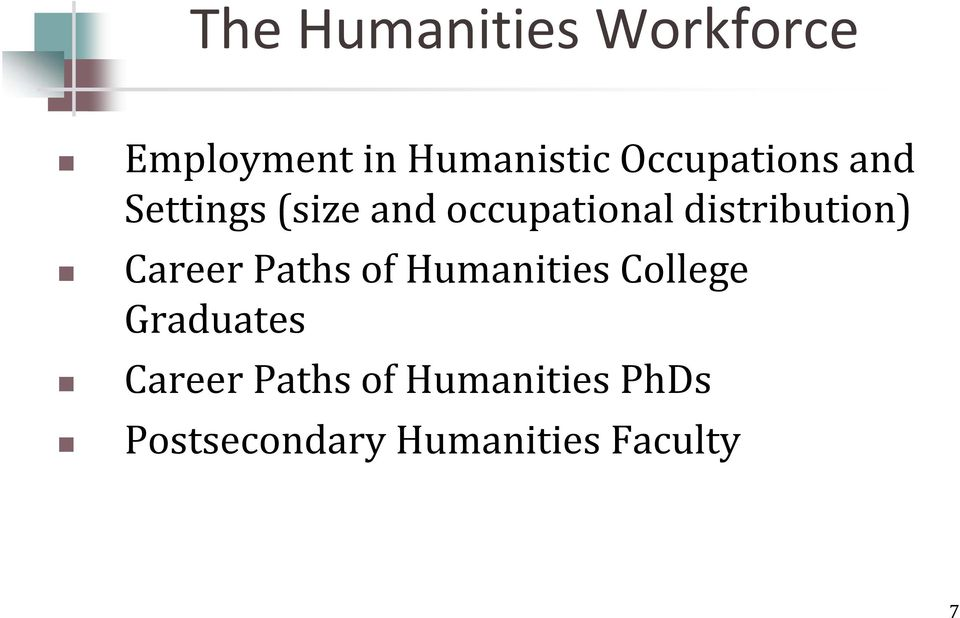 distribution) Career Paths of Humanities College