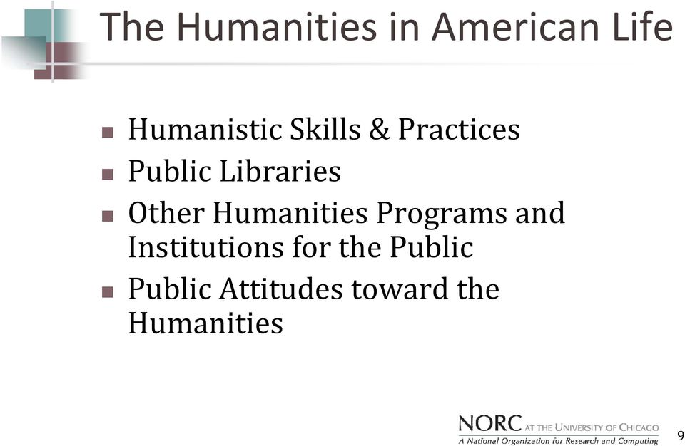 Humanities Programs and Institutions for the