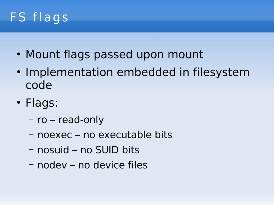 Flags: ro read-only noexec no executable