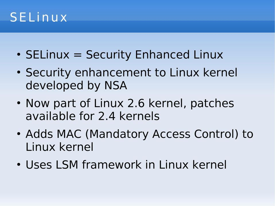 2.6 kernel, patches available for 2.