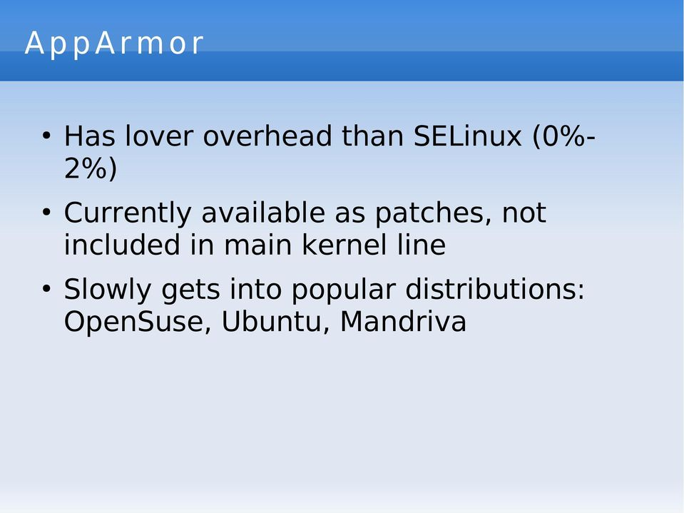 patches, not included in main kernel line
