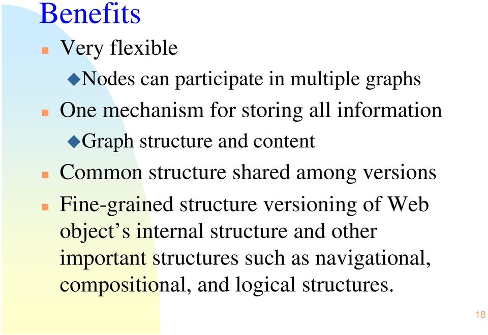 versions Fine-grained structure versioning of Web object s internal structure and