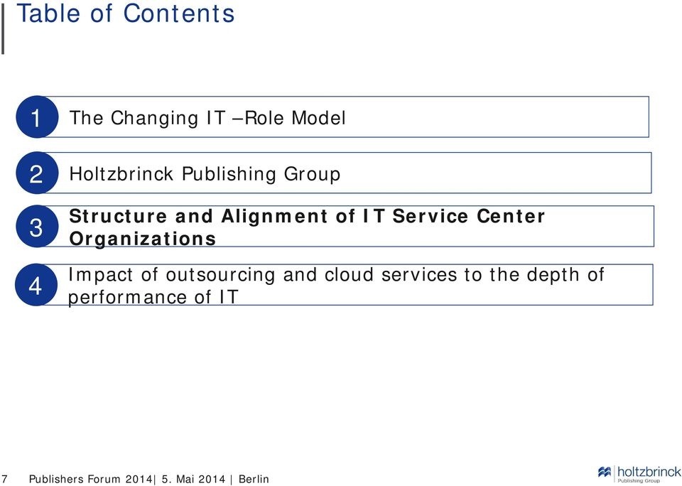Organizations Impact of outsourcing and cloud services to the