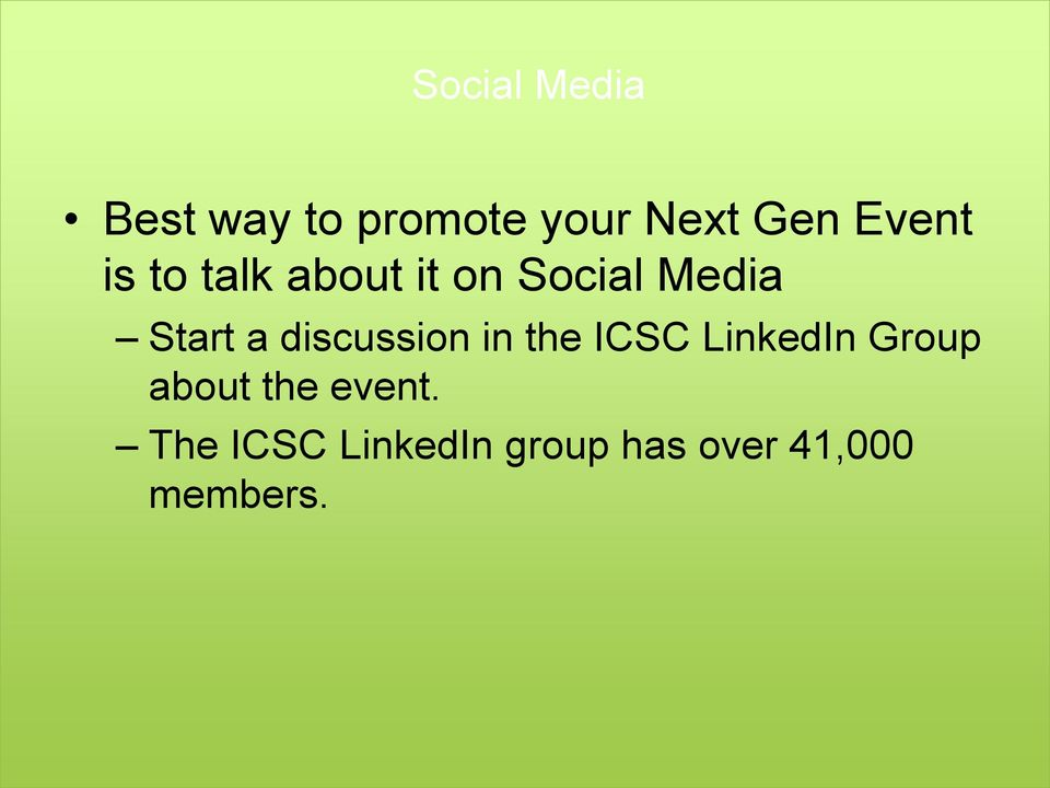 discussion in the ICSC LinkedIn Group about the