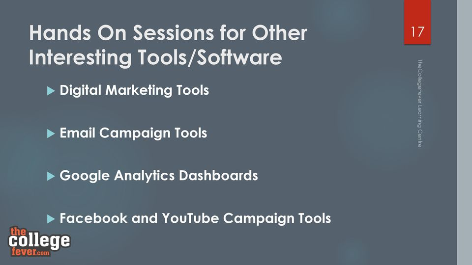 Email Campaign Tools 17 u Google Analytics