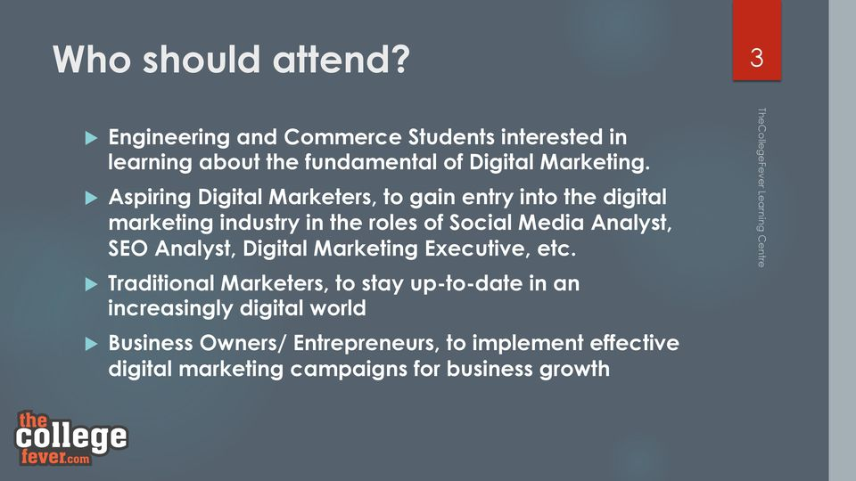 u Aspiring Digital Marketers, to gain entry into the digital marketing industry in the roles of Social Media Analyst,