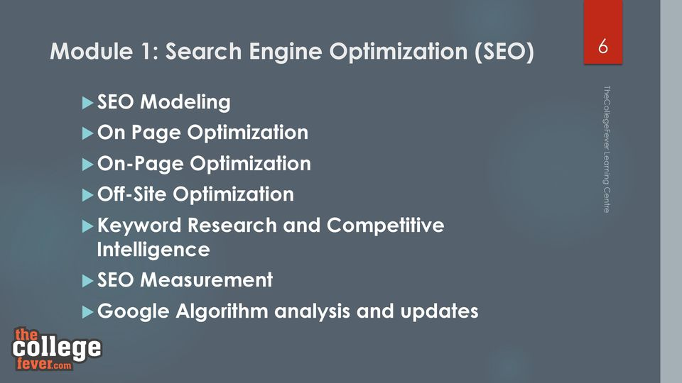 Optimization u Keyword Research and Competitive